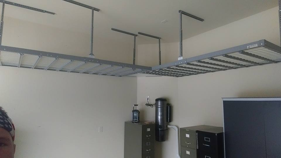 ceiling garage suncast rack storage diy racks metal